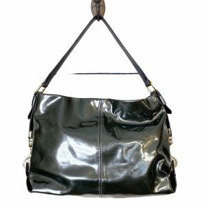 Antonio Melani Leather GunMetal Shoulder HOBO Bag